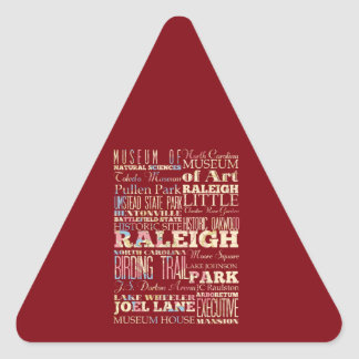 Famous Places of Raleigh, North Carolina. Triangle Sticker