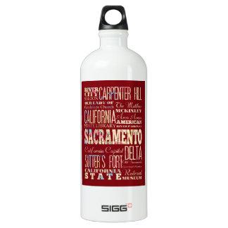 Famous Places of Sacramento, California. Water Bottle
