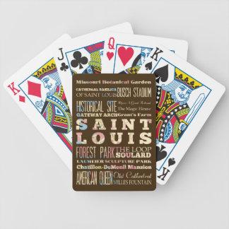 Famous Places of Saint Louis, Missouri. Bicycle Poker Deck