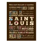 Famous Places of Saint Louis, Missouri. Postcard