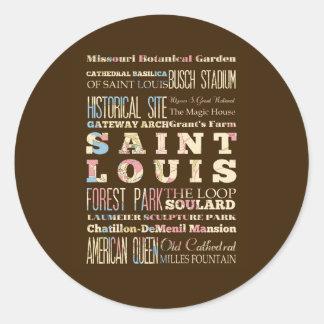 Famous Places of Saint Louis, Missouri. Stickers