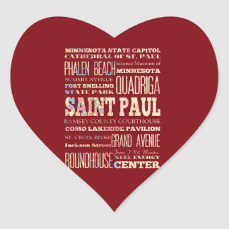 Famous Places of Saint Paul, Minnesota. Stickers