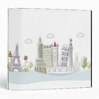 Famous Places of the World 3 Ring Binder