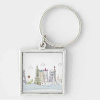 Famous Places of the World Keychain