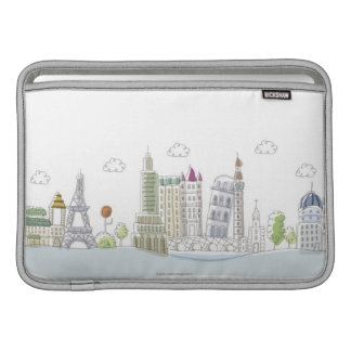 Famous Places of the World Sleeves For MacBook Air