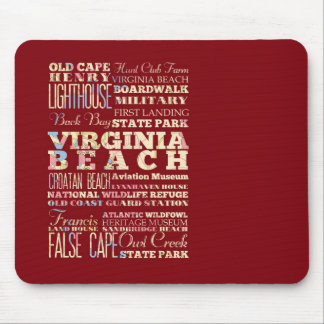 Famous Places of Virginia Beach, Virginia. Mouse Pads