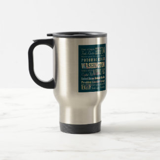 Famous Places of Washington, District of Colombia. Travel Mug