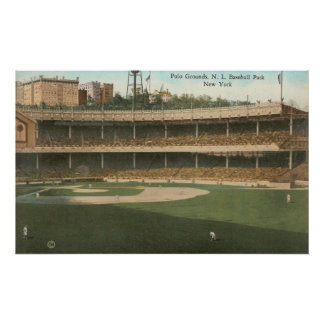 Famous Polo Grounds Baseball Park in New York City Poster