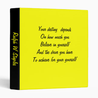 famous quoations binders-ralph w staples 3 ring binder