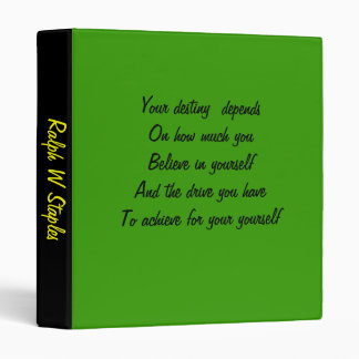 famous quoations binders-ralph w staples binder