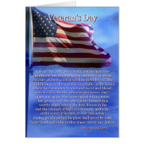 Famous Quote Veteran's Day Card