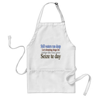 Famous Quotes Sayings Adult Apron