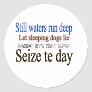 Famous Quotes Sayings Classic Round Sticker