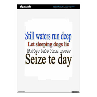 Famous Quotes Sayings Decal For iPad 3