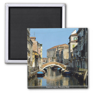 Famous region, Venice, Italy 2 Inch Square Magnet