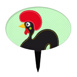Famous Rooster of Barcelos 01 Cake Topper
