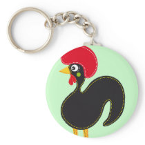 Famous Rooster of Barcelos 01 Keychain