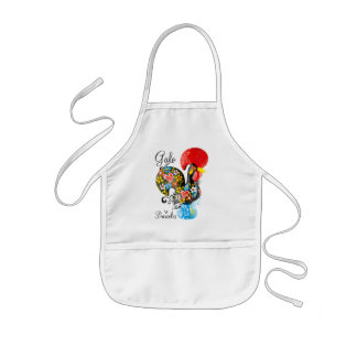 Famous Rooster of Barcelos #06 - Floral edition Kids' Apron