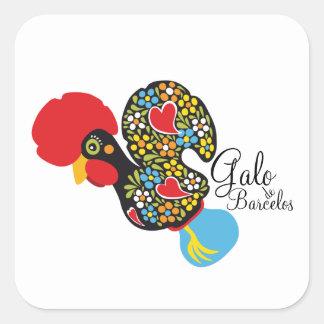 Famous Rooster of Barcelos #06 - Galo de Barcelos Square Sticker