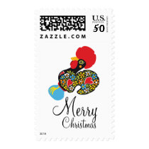 Famous Rooster of Barcelos Nr09 Merry Christmas Postage