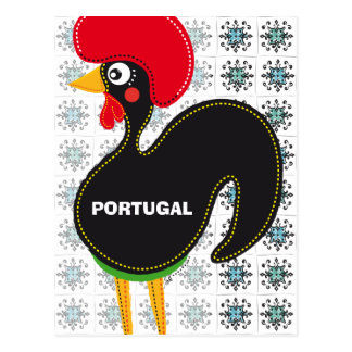 Famous Rooster of Barcelos Nr. 01 and Mosaics Postcard