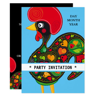 Famous Rooster of Barcelos Nr 02 invitation