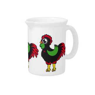 Famous Rooster of Barcelos Nr 03 Beverage Pitcher