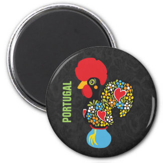Famous Rooster of Barcelos Nr 06 2 Inch Round Magnet
