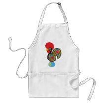 Famous Rooster of Barcelos Nr 06 Adult Apron