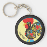 Famous Rooster of Barcelos Nr 06 Basic Round Button Keychain