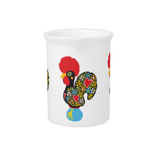 Famous Rooster of Barcelos Nr 06 Beverage Pitcher