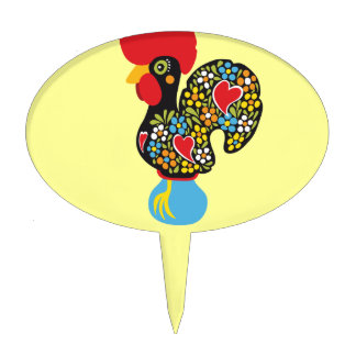 Famous Rooster of Barcelos Nr 06 Cake Topper