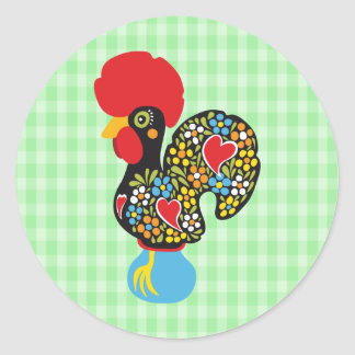Famous Rooster of Barcelos Nr 06 Classic Round Sticker