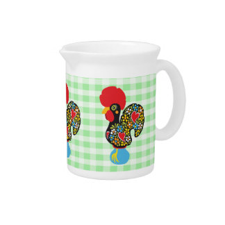 Famous Rooster of Barcelos Nr 06 Drink Pitcher