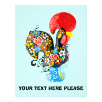 Famous Rooster of Barcelos Nr 06 - Floral edition Flyer