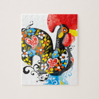 Famous Rooster of Barcelos Nr 06 - Floral edition Jigsaw Puzzle