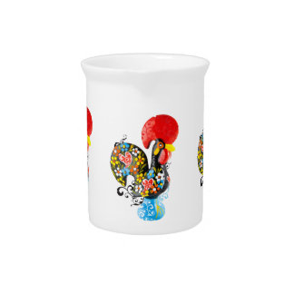 Famous Rooster of Barcelos Nr 06 - Floral edition Pitcher