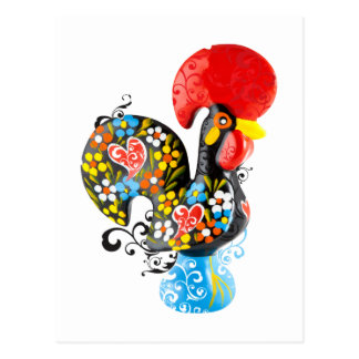 Famous Rooster of Barcelos Nr 06 - Floral edition Postcard