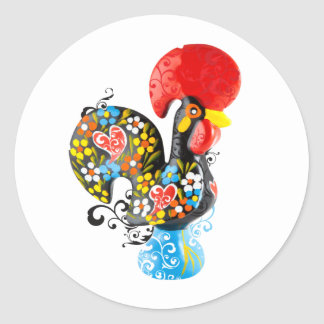 Famous Rooster of Barcelos Nr 06 - Floral edition Stickers
