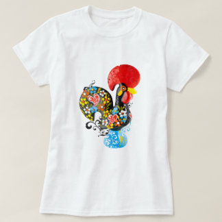 Famous Rooster of Barcelos Nr 06 - Floral edition T-Shirt