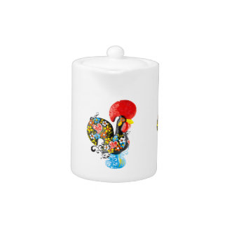 Famous Rooster of Barcelos Nr 06 - Floral edition Teapot