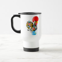 Famous Rooster of Barcelos Nr 06 - Floral edition Travel Mug
