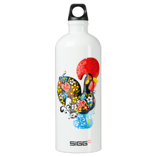 Famous Rooster of Barcelos Nr 06 - Floral edition Water Bottle