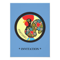 Famous Rooster of Barcelos Nr 06 Invitation