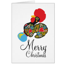 Famous Rooster of Barcelos Nr 06 Merry Christmas Card