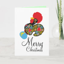 Famous Rooster of Barcelos Nr 06 Merry Christmas Holiday Card