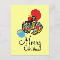Famous Rooster of Barcelos Nr 06 Merry Christmas Holiday Postcard