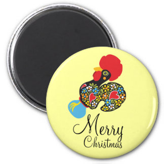 Famous Rooster of Barcelos Nr 06 Merry Christmas Magnet
