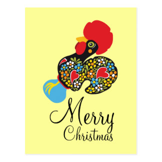 Famous Rooster of Barcelos Nr 06 Merry Christmas Postcard