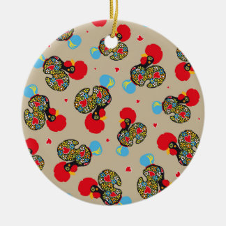 Famous Rooster of Barcelos Nr 06 Pattern Ceramic Ornament